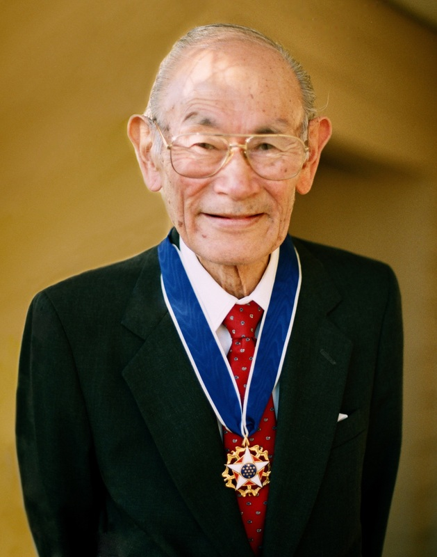Fred Korematsu, 1998, awarded the Medal of Freedom by President William J. Clinton