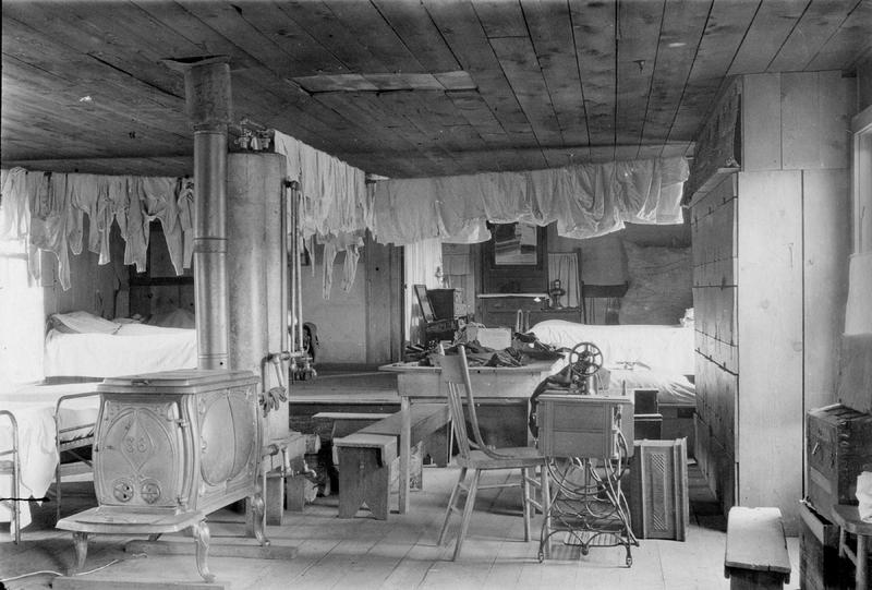 Catholic missionary boarding school dormitory for Indian children—an example of the crowded conditions contributing to the spread of tuberculosis, 1915