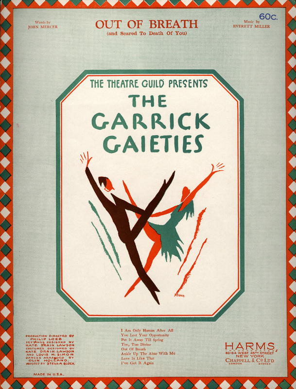 """Out of Breath (And Scared to Death of You)"", The Garrick Gaieties, 1930"