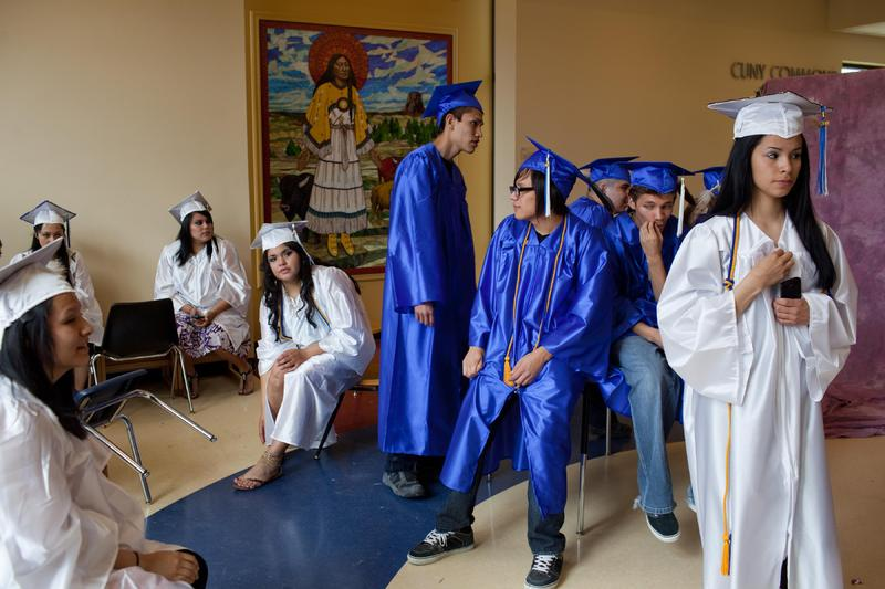 Graduation day at Red Cloud Indian School on the Pine Ridge Reservation, South Dakota. Nine of the school's students were among the thousand recipients of 2011 Bill and Melinda Gates Millennium Scholarships, photograph by Aaron Huey