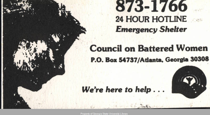 Council on Battered Women Card