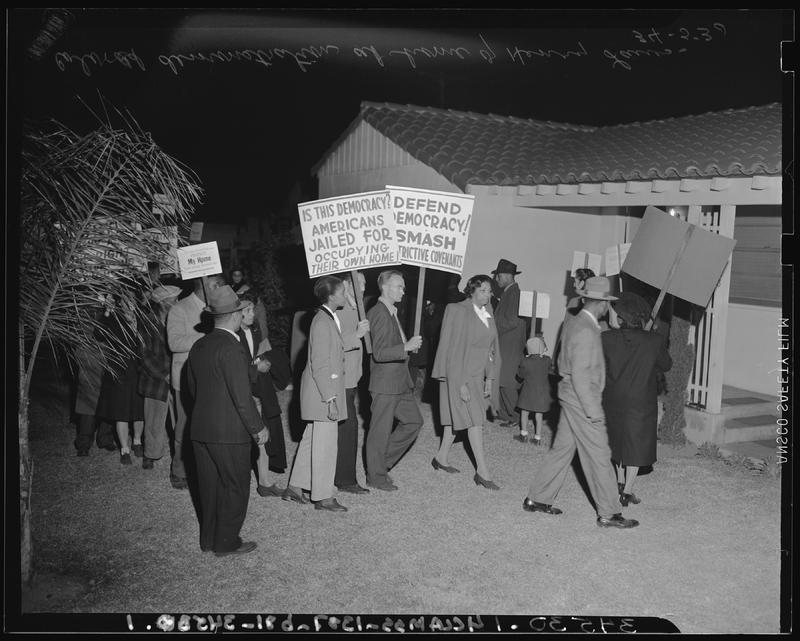 Discriminatory housing protest, Los Angeles, 1946