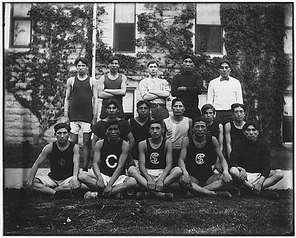 Chilocco Indian School Track Team, Oklahoma, 1910