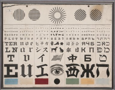 Mayerle's Lithographed International Test Chart, San Francisco, 1907