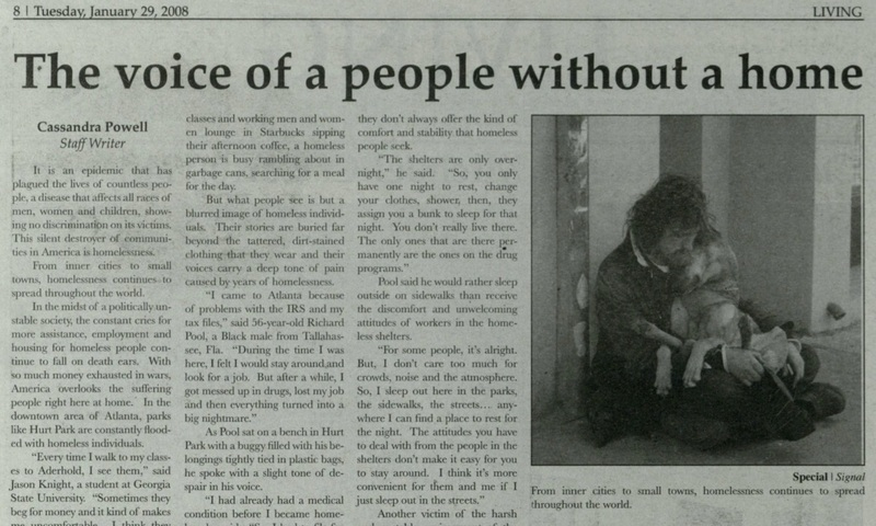 """""""The Voice of a People Without A Home"""" --  The Signal, 2008-01-29"""