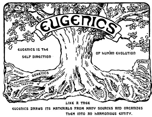 Eugenics logo, from The Second International Exhibition of Eugenics, 1921.