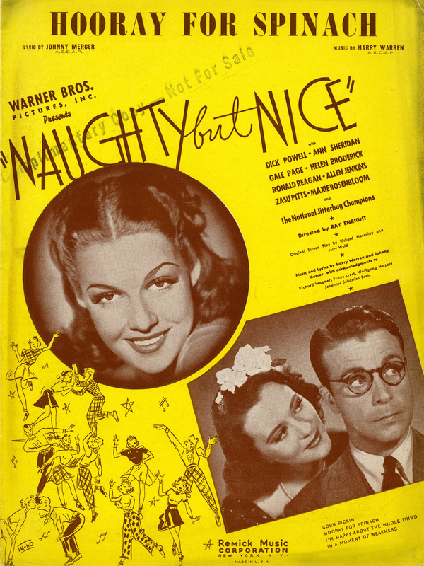 """Hooray for Spinach"", Naughty But Nice, 1939"