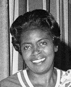 Dorothy Bolden at Maids Honor Day Banquet, 1970