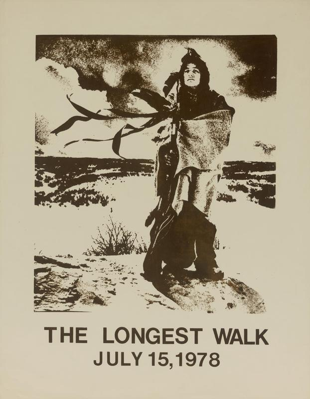 """The Longest Walk,"" silkscreen poster by Carlos Callejo, 1978"
