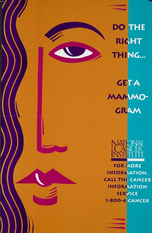 Do the right thing... get a mammogram poster
