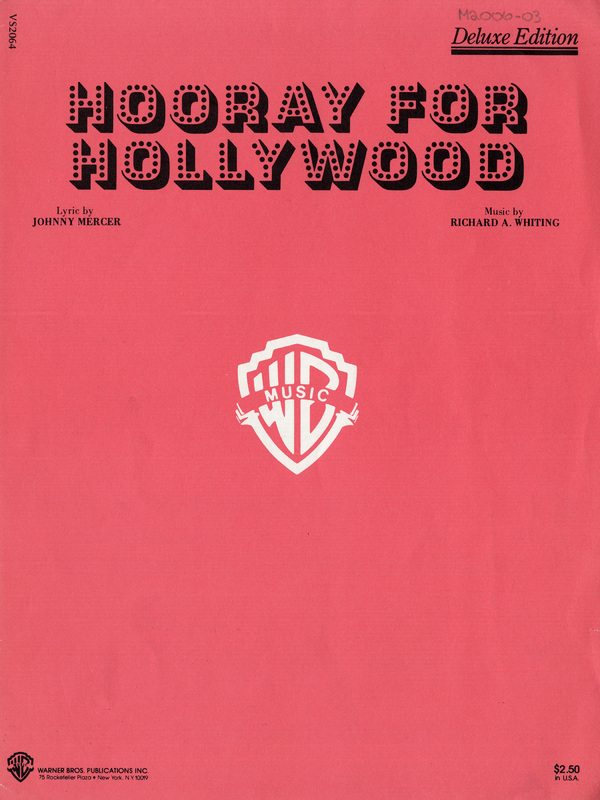 """""""Hooray for Hollywood"""", 1938"""