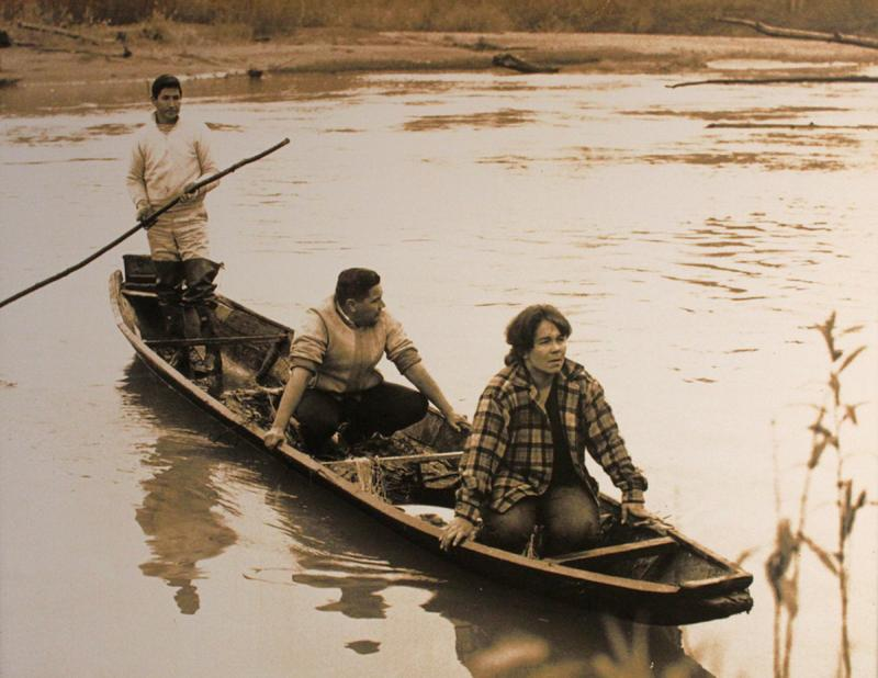 "Photograph of Indian fisherman on Nisqually River, Frank's Landing ""fish-in,"" 1966"