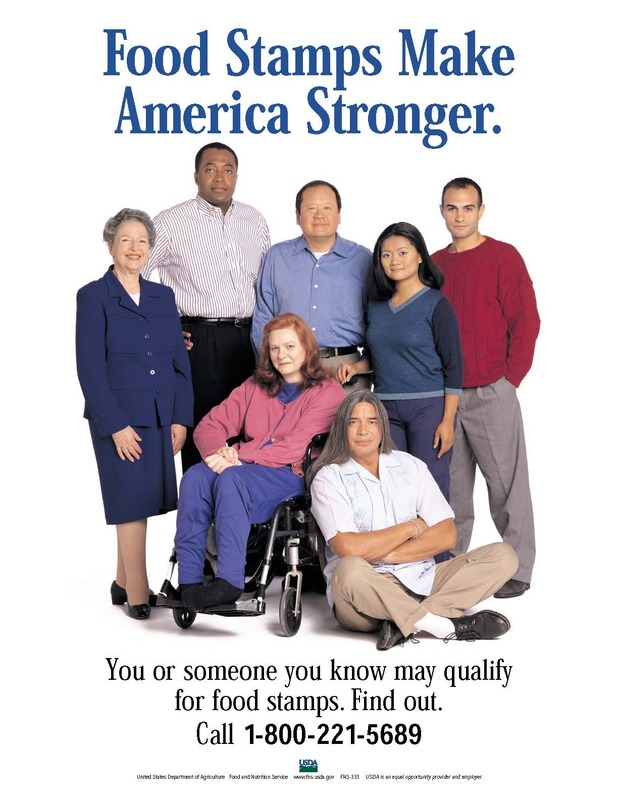 Food Stamps Make America Stronger poster