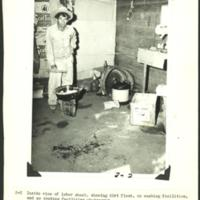 """Inside of labor shack with dirt floor and no washing/cooking facilities), George Sanchez collection"
