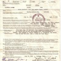Standard El Bracero work contract between federal governments of Mexico and the U.S.