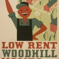 Low rent - Woodhill Homes, 2567 Woodhill Road, graphic by Earl Schuler, 1936