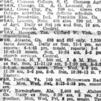 Station Schedules April 14, 1923