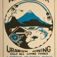 """""""Stop the Rape of Mount Taylor"""" poster, American Indian Environmental Council, 1979"""