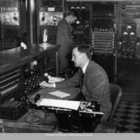 H. White and Marshall Davis Jr. in WSB control room
