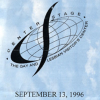 Program -- Center Stage, Gay and Lesbian Visitor's Center: Farewell Party, September 13, 1996