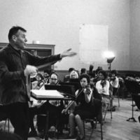 Conductor Robert Shaw in rehearsal with the Atlanta Symphony Orchestra, circa 1960s