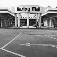Front entrance of the Ansley Mall shopping center