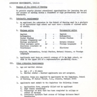 Admission requirements for Grady School of Nursing for 1965