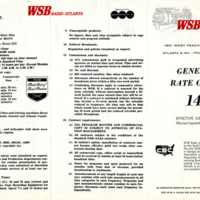 WSB Advertising Rate Card 1964