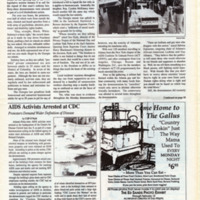 "Newspaper clippings -- Southern Voice: ""300 protest sodomy laws, 63 arrested""; ""AIDS activists arrested at CDC,"" January 18, 1990"