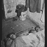 Negro children asleep. Southside of Chicago, IL. ca. 1940, photograph by Russell Lee