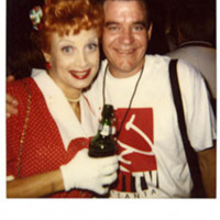 Photograph -- Mike Maloney and unidentified drag queen