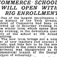 Commerce School  Will Open  With Big Enrollment