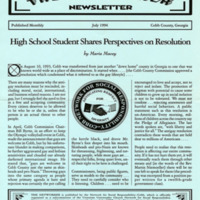 """The Networker Newsletter -- """"High School Student Shares Perspectives on Resolution"""""""