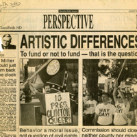 """Newspaper clippings -- """"Artistic Differences"""""""