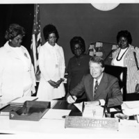 Jimmy Carter signs Maids Honor Day Proclamation, 1970