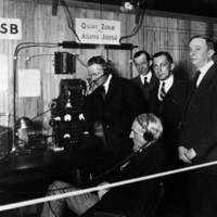 Henry Ford visiting WSB Radio, Atlanta