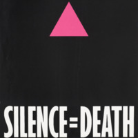 The Silence = Death Project, color lithograph, 1987