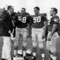 Frank Stiteler interviewing University of Georgia football players