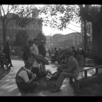 Mexican American shoeshine boys at the Old Plaza in Los Angeles, ca. 1930
