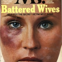 """Cover of Ms. Magazine, """"Battered Wives"""" August 1976"""