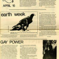 """Newspaper clipping -- """"Gay Power"""""""