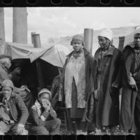 Evicted black demonstrators along Highway 60, New Madrid County, Missouri, 1939