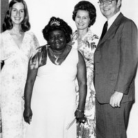 Award recipient and her employers at Maids Honor Day event, circa 1970s
