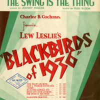 """""""The Swing is the Thing"""", Blackbirds of 1936"""