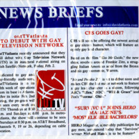"""Newspaper clipping: """"Out TV Atlanta to Debut with Gay Television Network"""""""