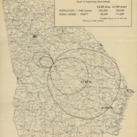 WMAZ (Macon) station coverage map, 1948