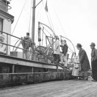 The M/S Hygiene ship used by the Alaska Department of Health to deliver medical services to isolated communities in southeast Alaska from 1939-1956