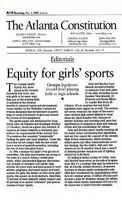 """""""Equity for Girls' Sports"""""""
