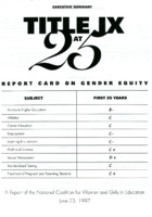 """""""Title IX At 25: Report Card on Gender Equity"""""""