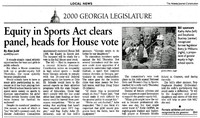 """""""Equity in Sports Act clears panel, heads for House vote"""""""